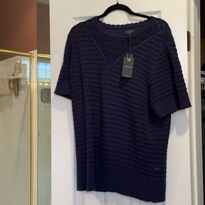 3x lucky brand short sleeves cotton sweater NWT